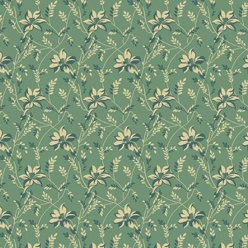 Andover SEQUOIA, Buds and Vines Blue 8753T, 100% Cotton Patchwork Quilting